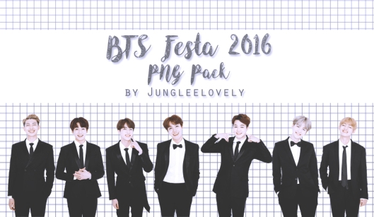 BTS Festa 2016 PNG Pack by Jungleelovely