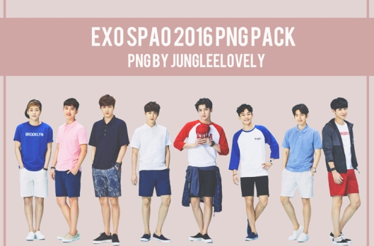 EXO SPAO 2016 PNG PACK BY JUNGLEELOVELY